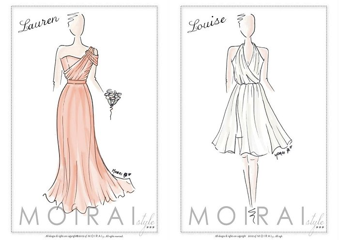 Moirai Design - Bridesmaids dresses Dubai.