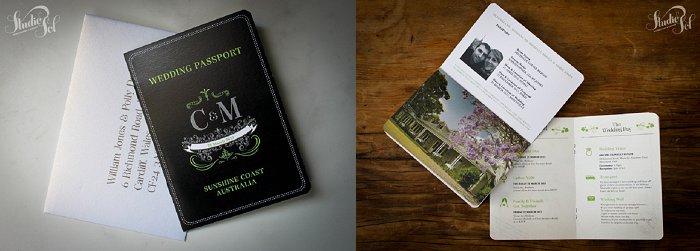 Studio Sol Dubai - Passport Wedding Invite