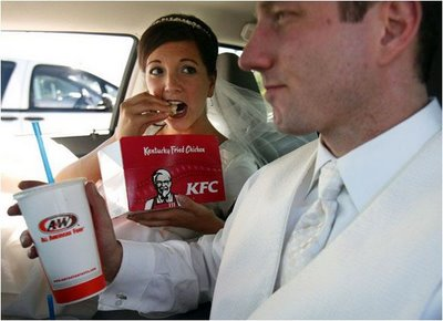 bride eating