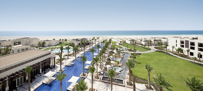 A  view of the stunning Park Hyatt Abu Dhabi