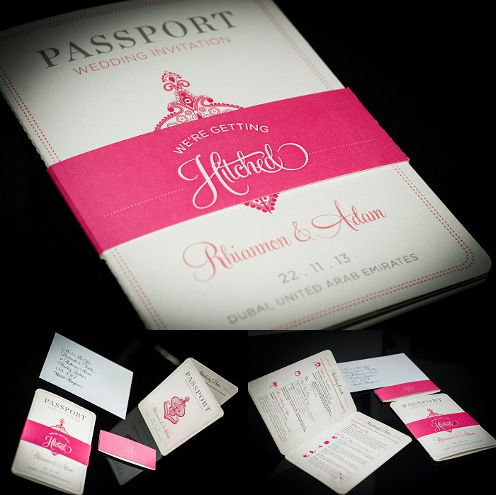 Dubai Wedding Stationery – My Passport Wedding Invitations Are Here ...