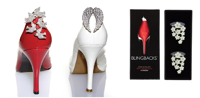 Above: Blingback shoe accessories